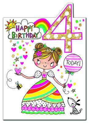 Rachel Ellen Age 4 Card (CHERRY4)