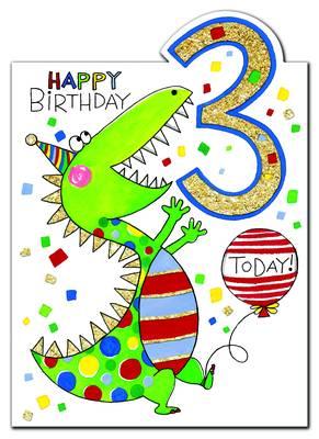 Rachel Ellen Age 3 Card (CHERRY8)