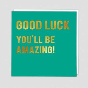Redback Cards Good Luck You'll Be Amazing Card (CLN129)