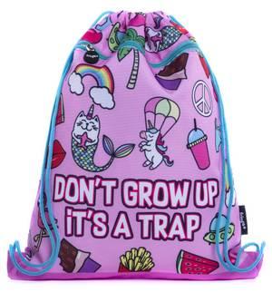 Fringoo Drawstring Bag - Doodle Pink