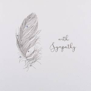 Five Dollar ShakeWith Sympathy Card - Feather (GSM2)