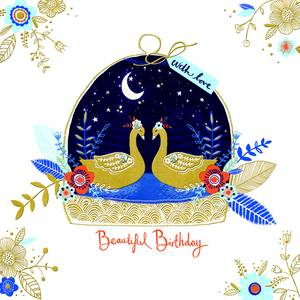 Rachel Ellen Beautiful Birthday - Swans (IND9)