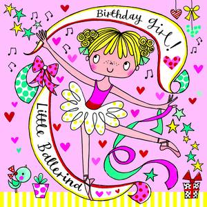 Rachel Ellen Jigsaw Card - Ballerina (JIG64)