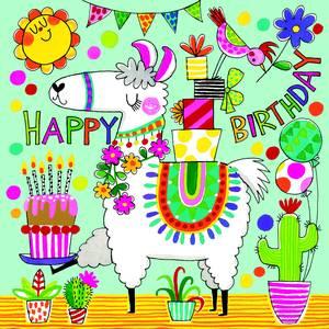 Rachel Ellen Jigsaw Card - Llama (JIG65)