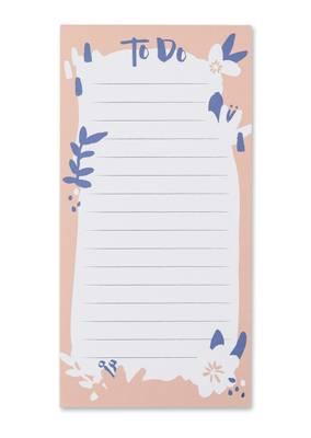 Raspberry Blossom To Do List Pad (PBB01)
