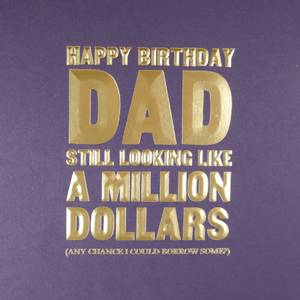 Five Dollar Shake Happy Birthday Dad Card (MN15)
