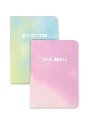 Raspberry Blossom Duo Pack A6 Notebooks - Task Owner & Idea Creator (NDR05/06)