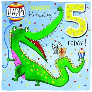 Rachel Ellen Age 5 Card - Crocodile (SCRIB10)