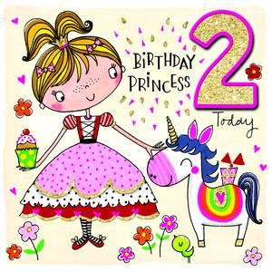 Rachel Ellen Age 2 Card - Princess (SCRIB3)