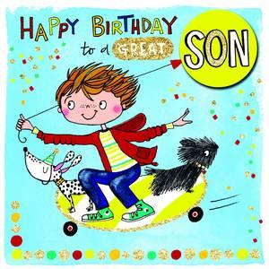 Rachel EllenHappy Birthday Son Card (SCRIB30)