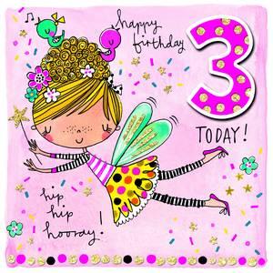 Rachel Ellen Age 3 Card - Fairy (SCRIB5)