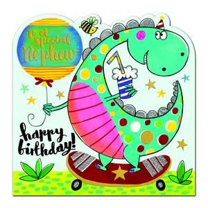 Magrudy Com Rachel Ellen Happy Birthday Nephew Card Dinosaur Spir10