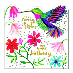 Rachel Ellen Happy Birthday Sister Card - Hummingbird (SPIR11)