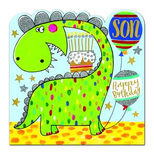 Rachel Ellen Happy Birthday Son Card - Dinosaur (SPIR4)