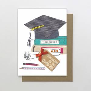 Stop the Clock Graduation You Did it Card (SUN31)