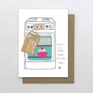 Stop the Clock Bun In The Oven Card (SUN44)