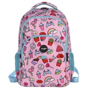 Fringoo Multi Compartment Backpack - Doodle Pink