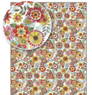 Rachel Ellen Flat Wrap - Flowers (WP113)