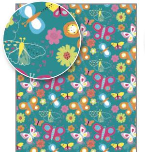 Rachel Ellen Flat Wrap - Butterflies (WP122)