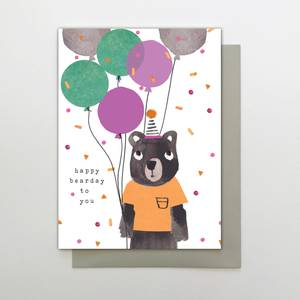 Stop the Clock Happy Bearday to You Card - Bear (TP04)