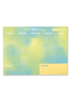 Raspberry Blossom Busy Busy Busy Weekly Planner (PDR03)