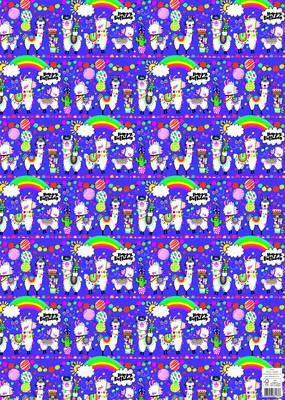 Rachel Ellen Flat Wrap - Llamas (WP141)