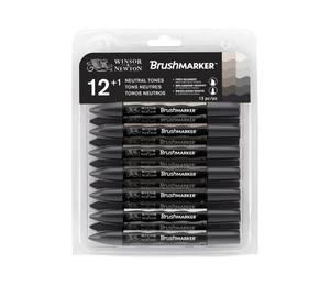 Winsor & Newton Brushmarker 12 Greys (0290031)