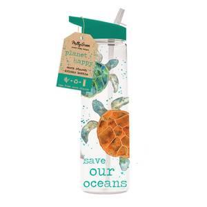 Milly Green Turtle Drinks Bottle 750ML - Corn Starch (PLA) & BPA Free