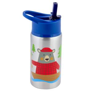 Stephen Joseph Stainless Steeel Water Bottles Bear (SJ117520)