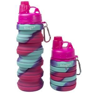 Fringoo Silicone Bottle - Pink/Blue