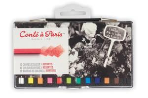 Conte A Paris Carre Colour Plastic Box Of 12 Assort Hk