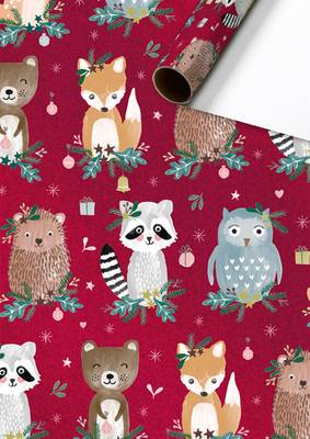 Stewo Christmas Roll Wrapping Paper - Ruri (Red)