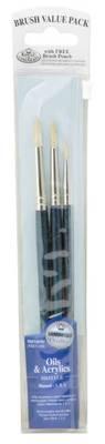Royal & Langnickel 3-PC Bristle Round Set (RSET-9107)