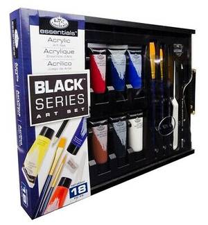 Royal & Langnickel Black Series Acrylic Set (RSET-ART4107) - 18 pieces