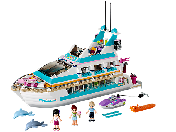 Lego Friends Dolphin Cruiser Yacht With Minifigures Mia Maya Andrew 41015