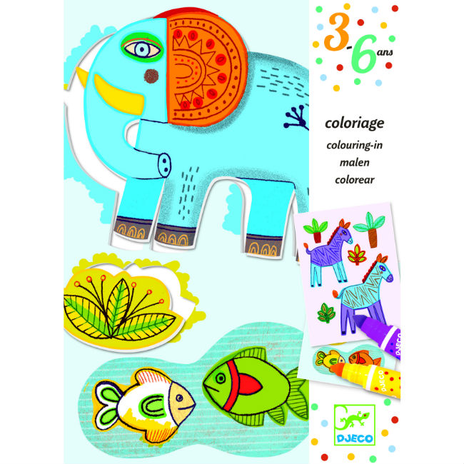 Djeco Zoo Zoo Colouring For Toddlers