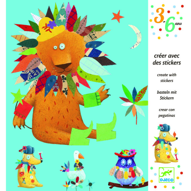 Djeco Create Animals With Stickers