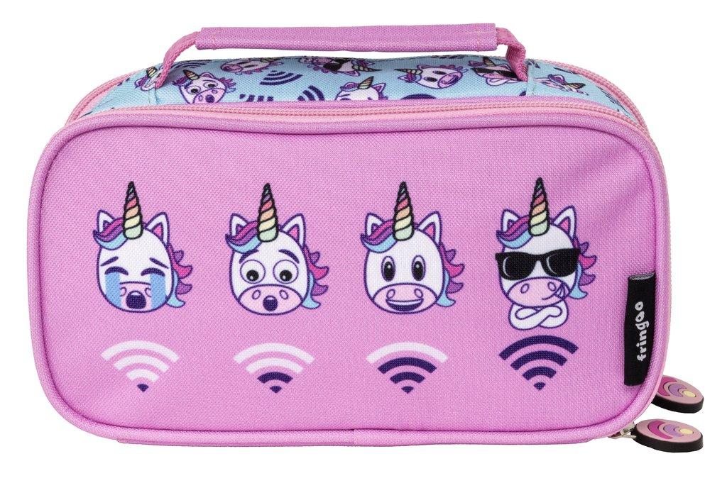 abb6ecbfea98 Fringoo 2 Compartment Pencil Case - Unicorn Wifi