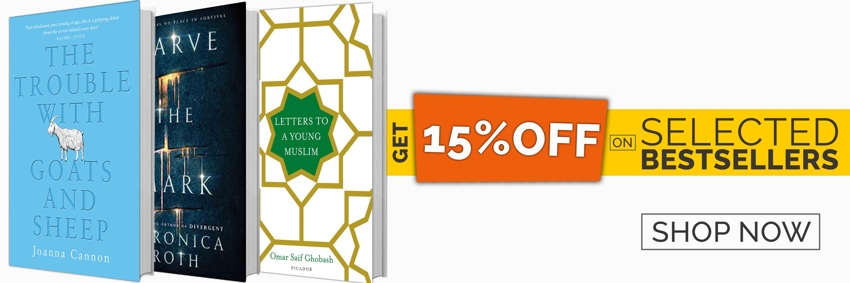 Bestseller - 15% off promotion - homepage