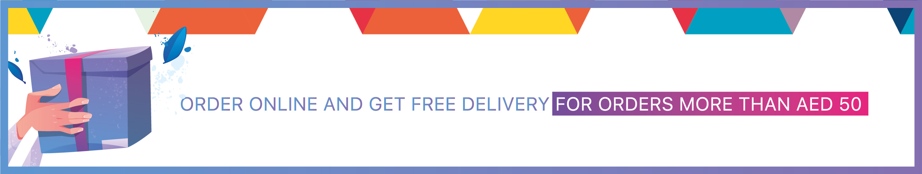 Free delivery over 50AED Homepage Banner