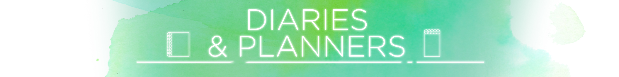 Diaries and planners category header 2112x264
