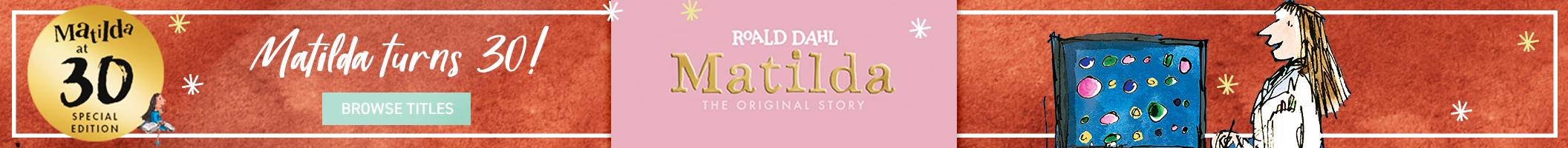 Matilda Turns 30 Homepage Banner 2112x200