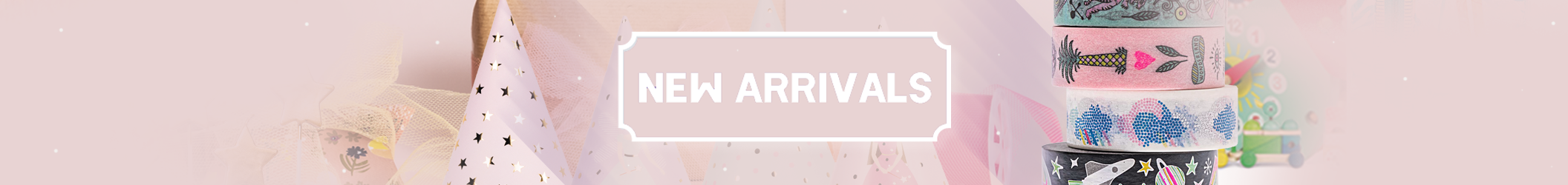 New Arrivals landing page banner